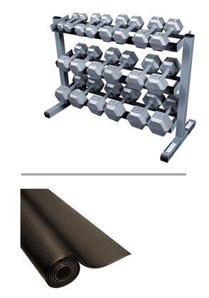 SDS550-GDR363-RF34B Strength Training Set with Grey Hex Dumbbell Set