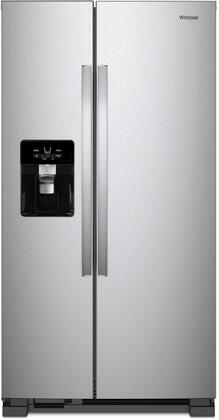 WRS335SDHM 36 inch  Side-by-Side Refrigerator with 25 cu. ft. Total Capacity  LED Interior Lighting  Energy Star Certified  Spillproof Glass Shelves  Adaptive