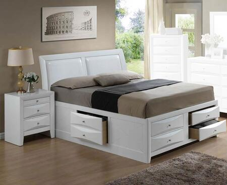 G1570I-FSB4BEDROOMSET 2-Piece Bedroom Set with Full Size Storage Bed + Nightstand  in