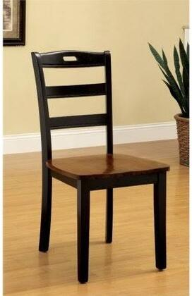 Johnstown Collection CM3027SC-2PK Set of 2 Side Chair with Ladder-Back and Wooden Contour Seat in Antique Oak and