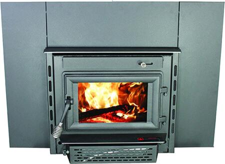 """Colonial TR004 23"""" Fireplace Insert with 69 000 BTUs Blower Included Heating up to 1 800 sq. ft. 18"""" Log Length EPA Certified Air Wash Glass and Heavy"""