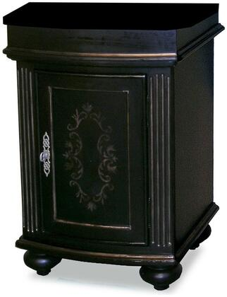 5300-2450-1025VesselSF Arlington 24 inch  Square Ebony Vanity With Snowflake Granite Top And Vessel