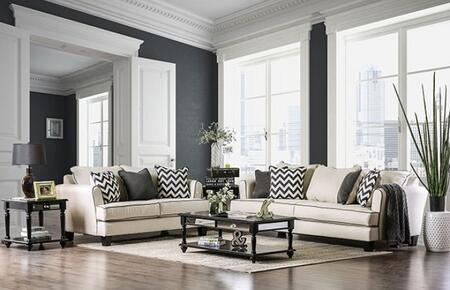 Percey Collection SM1278-SL 2-Piece Living Room Set with Stationary Sofa and Loveseat in