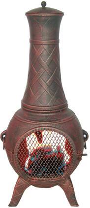 DM-6035J-AA Western Basket Weave Jr. Aluminum Chiminea in Antique
