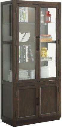 Alanus Collection 90302 36 inch  Curio Cabinet with 4 Doors  3 Glass Shelves  Glass Side Panels  Wooden Back Panel  Metal Hardware and Aspen Wood Construction in