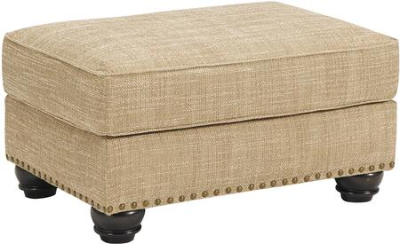 Candoro Collection 1180614 33 inch  Ottoman with Fabric Upholstery  Nail Head Trim and Short Bun Feet in