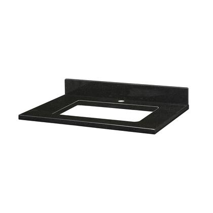 GRUT31RBK1_Stone_Top__31inch_for_Rectangular_Undermount_Sink__in_Black_Granite__with_Single_Faucet