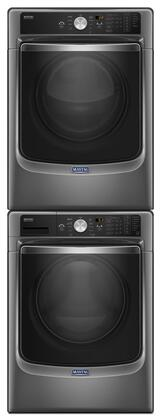 Metallic Slate Front Load Laundry Pair with MHW8200FC 27