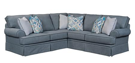 Emily Collection 6263-2-3/4022-44/CW4073-48/4122-44/8712-45 Two Piece Sectional Sofa with Left Arm Facing Loveseat and Right Arm Facing Sofa in  Woven