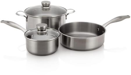 5304513525 Stainless Steel Cookware Set with 1 Pan  2 Pots with
