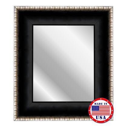 687608 Reflections 32 inch  x 68 inch  Satin Midnight Ebony Silver Scrolls Wall