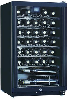 WHS-144W1 20 inch  Wine Cooler with 35 Bottle Capacity  Chrome Shelves and Adjustable Thermostat  in