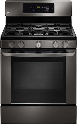 LG 5.4 Cu. Ft. Freestanding Gas Range Black Stainless Steel LRG3061BD