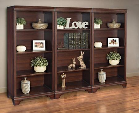 Belcourt ER-BLC-K-OBK55X3-D Bookcase Wall Set with Three 55 inch  Tall Bookcases in