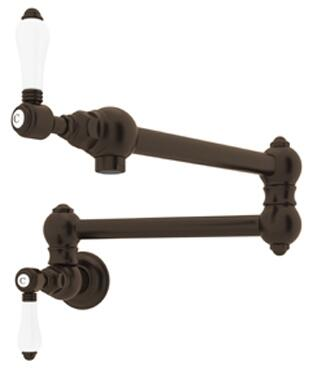 A1451LPTCB-2 Italian Country Kitchen Collection Wall Mounted Swing Arm Pot Filler with 24