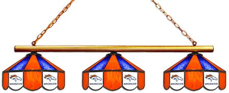18-1103 Denver Broncos Glass 3 Shade Lamp