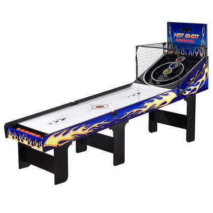 NG2015 Carmelli Hot Shot Foldable Skeeball Table with Reinforced Legs  Built-in Automatic Ball Return System and 2 Player Electronic LED Scoring