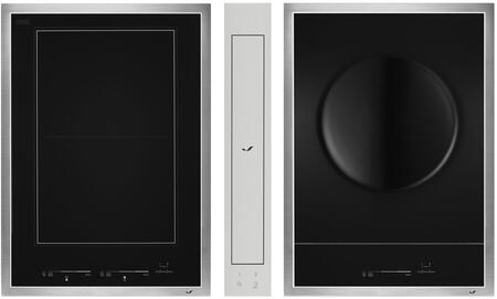 3-Piece Kitchen Package JIC4715GS  JIE4115GS 15 inch  Electric Cooktop  and JVD0303GS 4 inch  Ducted Downdraft Hood in Stainless