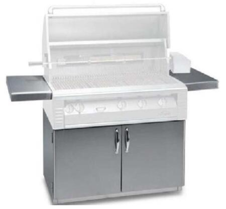 AL-36C Standard 36 Freestanding Grill Cart with 2 Access Doors  2 Side Shelves  and Caster Wheels in Stainless
