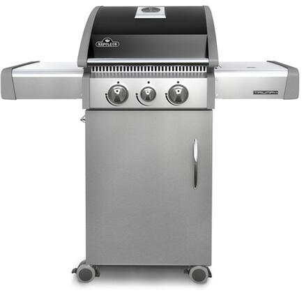 "T325SBNK 46"" Triumph 325 Series Freestanding Natural Gas Grill with 2 Stainless Steel Burners  Range Side Burner  550 sq. in. Cooking Surface  Accu-probe"