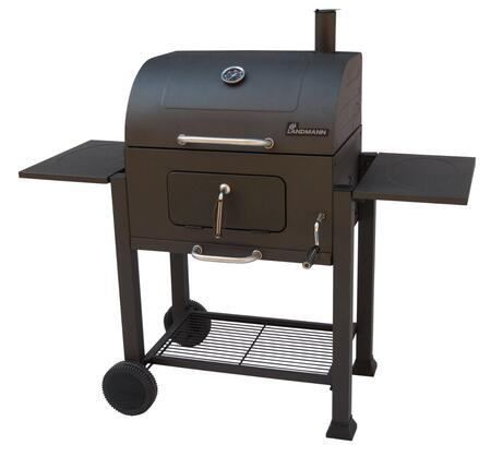 560200 Vista Barbecue Charcoal Grill with Porcelain Cast Iron Grates  Removable Ash Tray  Stainless Steel Handles and Chimney with Adjustable