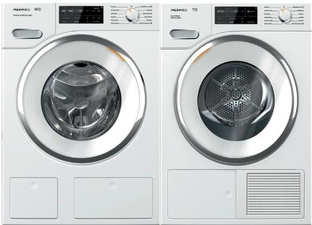 White Front Load Laundry Pair with WWH660WCS 24 inch  Front Load Washer and TWI180WP 24 inch  Electric Dryer