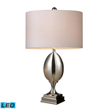 D1426W-LED Waverly LED Table Lamp In Chrome Plated Glass With Milano Pure White
