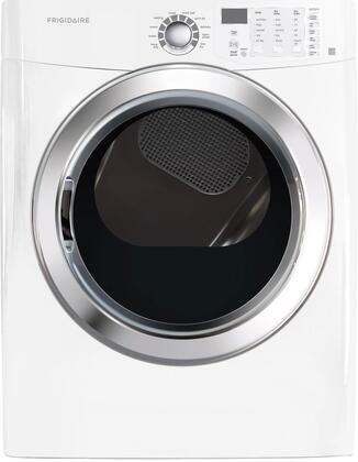 """FFSE5115PW 27"""""""" Freestanding Front Load Electric Dryer With 7 cu. ft. Capacity  Ready Steam  Ready-Select Controls  Quick Dry  Precision Dry Moisture Sensor and"""" 336464"""