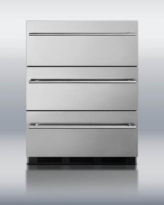 """SP6DSSTBTHIN7ADA 24"""" 5.4 cu. ft. ADA Compliant Three Drawer Refrigerator with Automatic Defrost  Adjustable Thermostat  Spring Assisted Rollers and"""