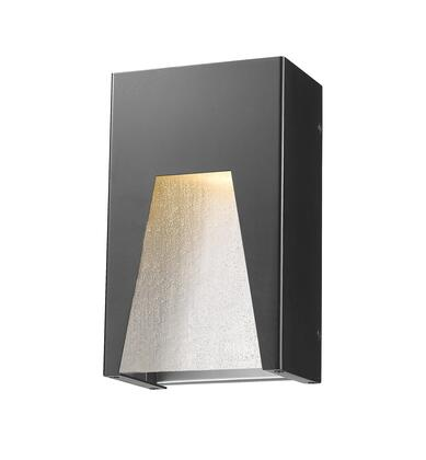 Millenial 561S-BK-SL-SDY-LED 6 1 Light Outdoor Wall Light Contemporary  Metropolitan  Modernhave Aluminum Frame with Black Silver finish in Clear
