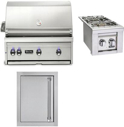 3-Piece Stainless Steel Outdoor Kitchen Package with VQGI5360NSS 36