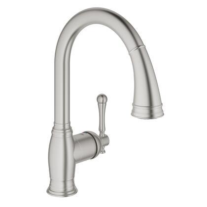 Grohe 33870DC2 Bridgeford Single-Handle Kitchen Faucet, Supersteel