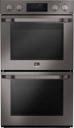 LSWD309BD 30 inch  Double Wall Oven with Two 4.7 cu. ft. Capacity Ovens  Pro-Style Knob Control Design  4 Mode True Convection System  Smart ThinQ