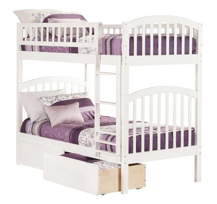 Richland AB64142 Twin Over Twin Bunk Bed With Urban Bed Drawers In