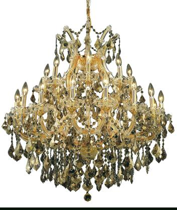 2800D36G-GT/RC 2800 Maria Theresa Collection Hanging Fixture D36in H36in Lt: 24+1 Gold Finish (Royal Cut Golden