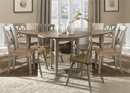 Al Fresco Collection 541-CD-O3DLS 3-Piece Dining Room Set with Drop Leaf Table and 2 Double X Back Side Chairs in Driftwood & Taupe