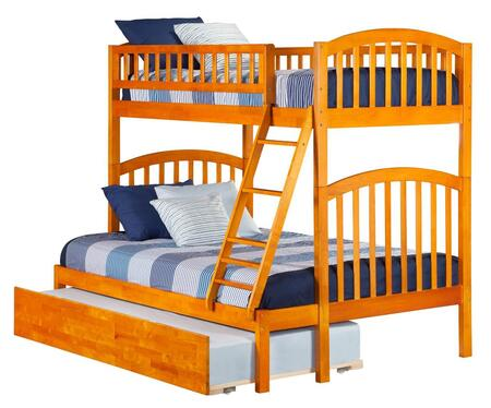 Richland AB64257 Twin Over Full Bunk Bed With Urban Trundle Bed In Caramel