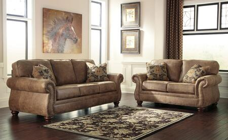 Larkinhurst 31901QSSL 2-Piece Living Room Set with Queen Sofa Sleeper and Loveseat in Earth