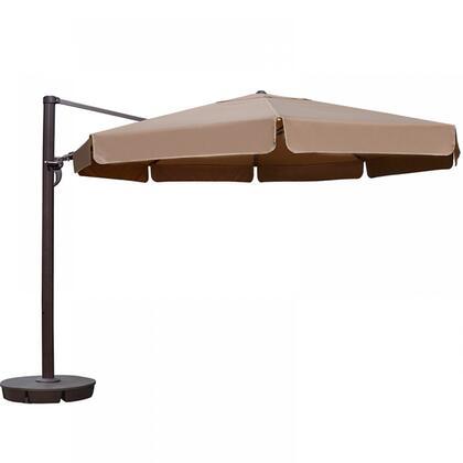 NU6785 Victoria 13-ft Octagon Cantilever w/ Valance in Stone Sunbrella