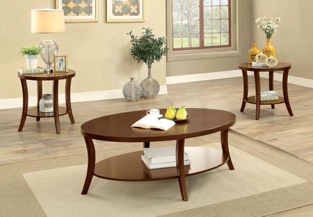 Paola Collection CM4334-3PK 3 Pc. Table Set with Coffee Table and 2x End Tables in Brown