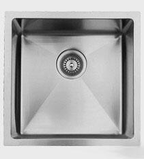 RS390 15 inch  Wide Undermount Single Bowl Sink - 18 Gauge: Stainless