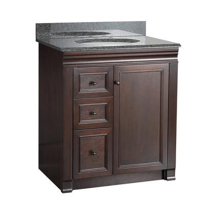 SHEA3021DL Shawna Collection 30 inch  Vanity with Oil Rubbed Bronze Knobs in a Tobacco