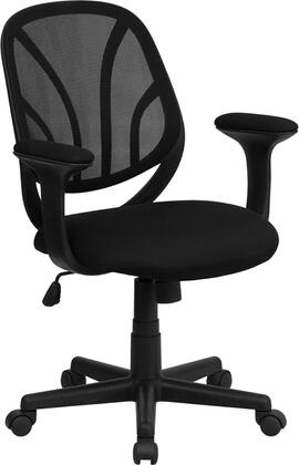 """GO-WY-05-A-GG Y-GO Chairâ""""¢ Mid-Back Black Mesh Computer Task Chair with"""