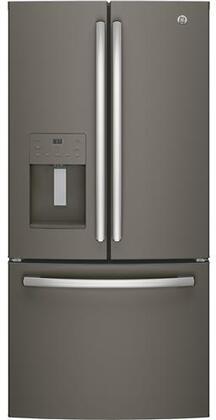 GE GYE18JMLES 33 Inch Freestanding Counter Depth Side by Side Refrigerator in Slate