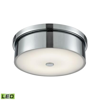FML4925-10-15 Towne Round LED Flushmount In Chrome And Opal Glass -