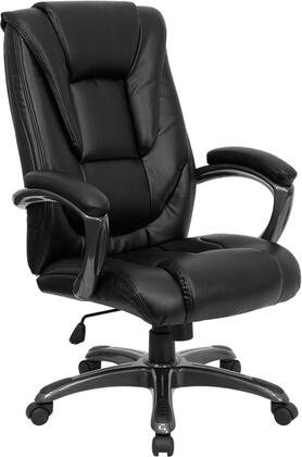 GO-7194B-BK-GG High Back Black Leather Executive Office