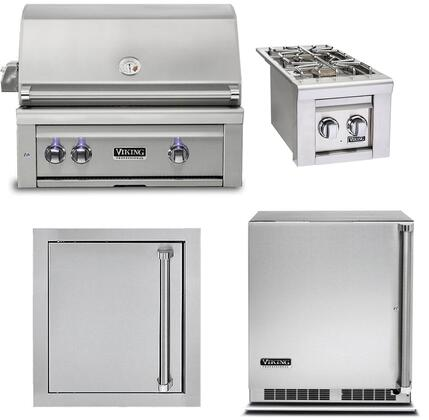 4-Piece Stainless Steel Outdoor Kitchen Package with VQGI5300NSS 30