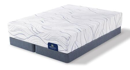 Cedarhurst 500080978-QMFSPLITLP Set with Plush Queen Mattress + 2x Split Low Profile