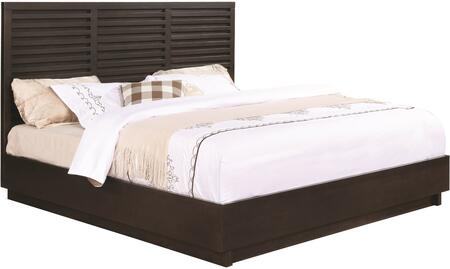 Matheson Collection 204551ke King Size Panel Bed With Slatted Panel Design  Low Profile  Solid Poplar And Birch Veneers Construction In Graphite