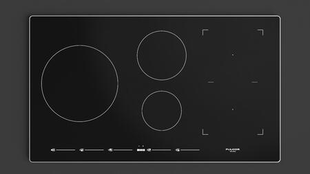 "F7IT36S1 36"" 700 Series Induction Cooktop with 5 Elements that Includes Extra Large Zone and Bridge Elements Slide Touch Controls and Low Temperature Function"